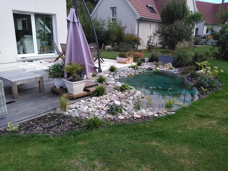 Cr ation de jardin et bassin jud leprotti for Creation bassin de jardin